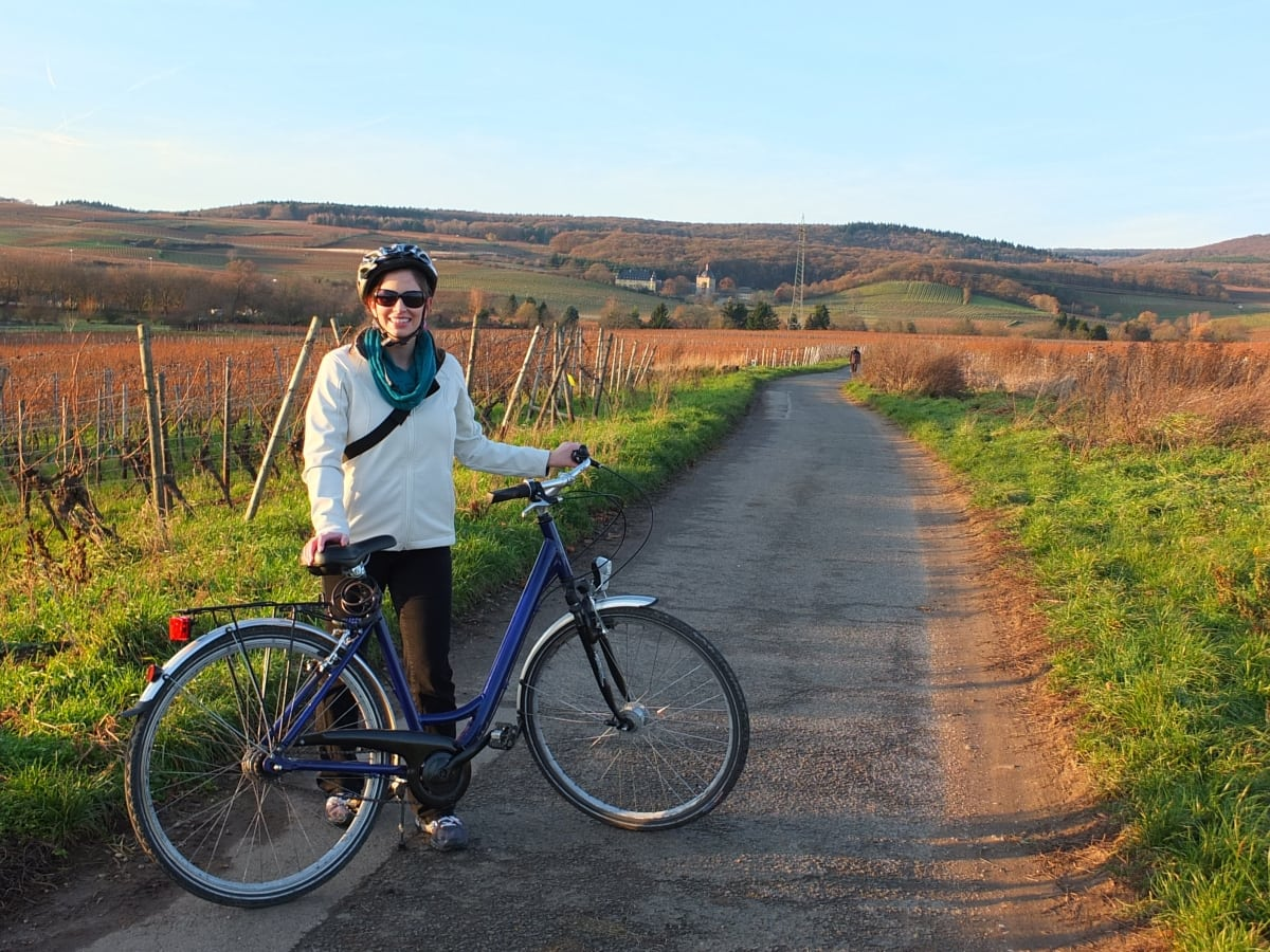 Bike tour through the vineyards of Rudesheim, Germany
